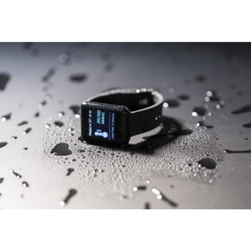 ABS smart watch with silicone wrist band
