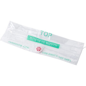 Polyester pouch with CPR mask